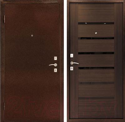Входная дверь Дверной Континент Оптима С венге (96x205, левая)
