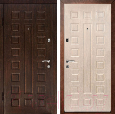 Входная дверь Дверной Континент Люкс (96x205, левая, белый дуб)