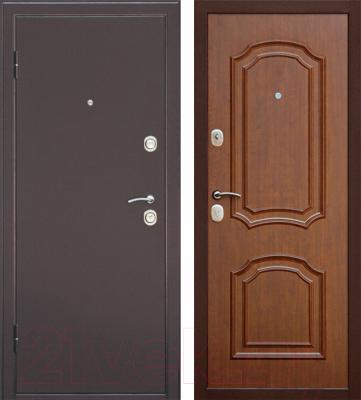 Входная дверь Дверной Континент Интерио (96x205, левая, темный орех)