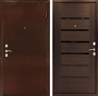 Входная дверь Дверной Континент Оптима С венге (96x205, правая)