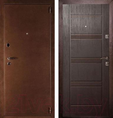 Входная дверь Дверной Континент Дельта венге (98x205, правая)