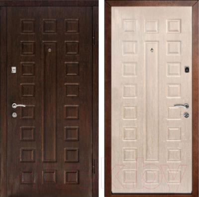Входная дверь Дверной Континент Люкс (96x205, правая, белый дуб)