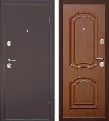 Входная дверь Дверной Континент Интерио (96x205, правая, темный орех)