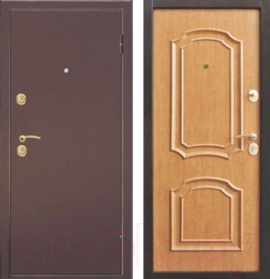 Входная дверь Дверной Континент Интерио (96x205, правая, светлый орех)