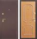 Входная дверь Дверной Континент Интерио (96x205, правая, светлый орех) -