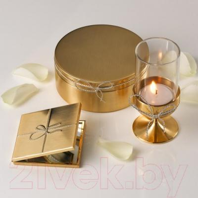 Карманное зеркало Wedgwood VW Love Knots Gold