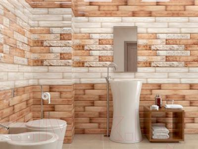 Декоративная плитка Уралкерамика Веста ВС9ВТ434 (249x500, коричневый/коричневый)