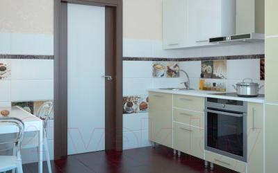 Бордюр Уралкерамика Арабика БД56АБ004 (500x50, белый/коричневый)
