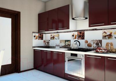 Декоративная плитка для кухни Уралкерамика Арабика ВС9АБ004 (249x500, белый/коричневый)