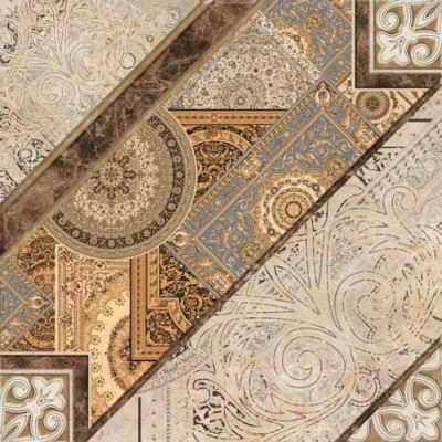 Плитка для пола Уралкерамика Вега ПГ3ВГ004 (418x418, белый/коричневый)