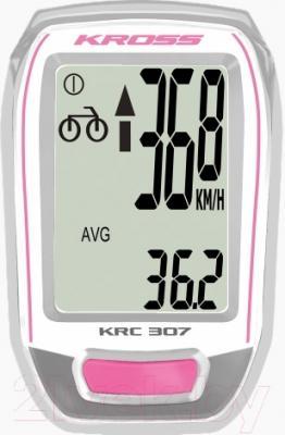 Велокомпьютер Kross KRC 307W (розовый)