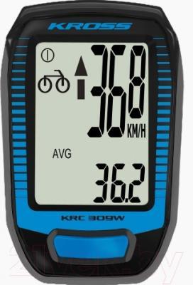Велокомпьютер Kross KRC 309W (черно-синий)