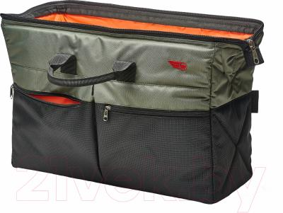 Сумка в багажник ТрендБай 1135 (хаки/оранжевый)