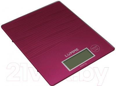 Кухонные весы Lumme LU-1318 (красный рубин)