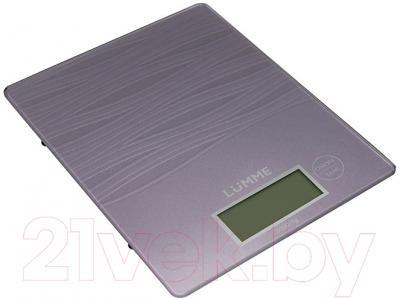 Кухонные весы Lumme LU-1318 (лиловый аметист)