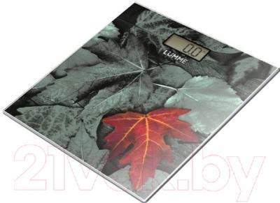 Напольные весы электронные Lumme LU-1325 (листья)