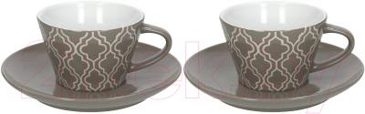 Набор для чая/кофе Tognana Concerto (серый, с блюдцами)