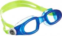 Очки для плавания Aqua Sphere Mako 175450 (голубые/лайм/прозрачные линзы) -