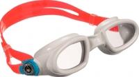 Очки для плавания Aqua Sphere Mako 175460 (красно-белые/прозрачные линзы) -