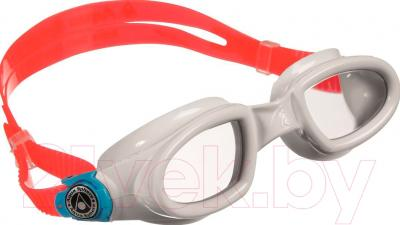 Очки для плавания Aqua Sphere Mako 175460 (красно-белые/прозрачные линзы)