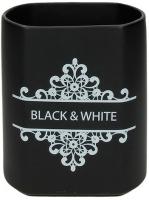Подставка для кухонных приборов Tognana Dolce Casa Black And White (14см) -