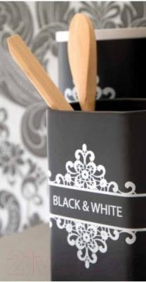 Подставка для кухонных приборов Tognana Dolce Casa Black And White (14см)