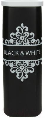 Емкость для хранения Tognana Dolce Casa Black And White (27см)