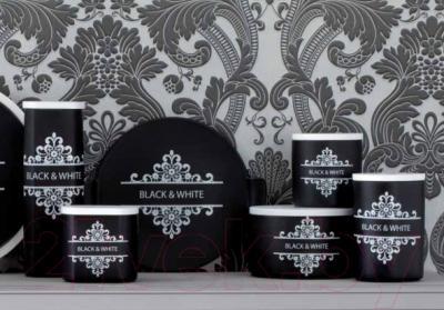 Емкость для хранения Tognana Dolce Casa Black And White (18x11см)