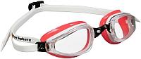Очки для плавания Aqua Sphere Michael Phelps K180 Lady (белый/лаванда/прозрачные линзы) -