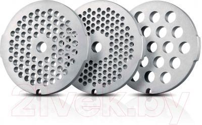 Мясорубка электрическая Philips HR2745/00 - 3 решетки для фарша из нержавеющей стали (3, 5, 8 мм)
