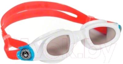Очки для плавания Aqua Sphere Moby Kid 175540 (белый/голубой/темные линзы)