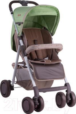 Детская прогулочная коляска Lorelli Aero (зеленый/бежевый)