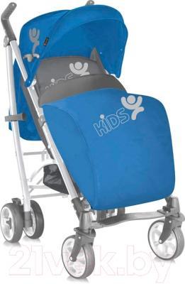 Детская прогулочная коляска Lorelli S200 (синий/серый)