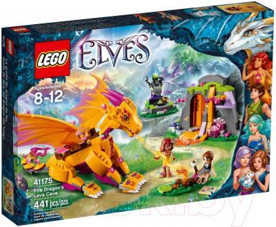 Конструктор Lego Elves Лавовая пещера дракона огня (41175)