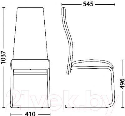 Стул Новый Стиль Tailer Chrome CF (ECO-07) - размеры