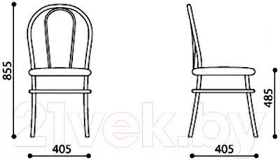 Стул Новый Стиль Florino Chrome (V-14) - размеры