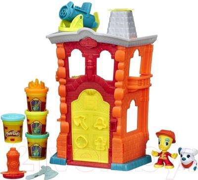 Игровой набор Hasbro Play-Doh Пожарная станция (B3415)