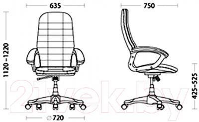 Кресло офисное Новый Стиль Valetta (ECO-30) - размеры