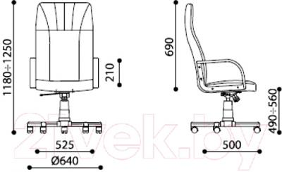 Кресло офисное Nowy Styl Macro (C-38, серый)