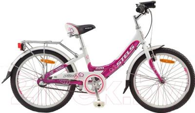 Детский велосипед Stels Pilot 220 Girl 2016 (белый/фиолетовый/розовый)
