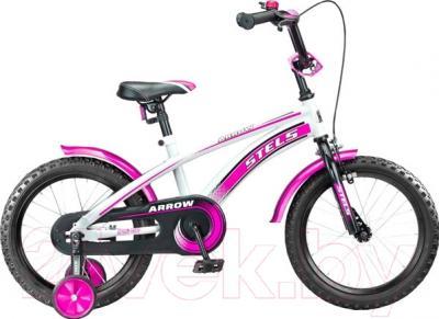 Детский велосипед Stels Arrow 12 2015 (белый/розовый)