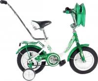 Детский велосипед с ручкой Stels Pilot 110 2016 (12, зеленый/белый) -