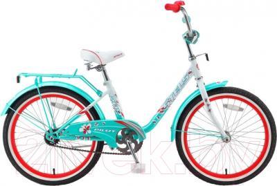 Детский велосипед Stels Pilot 200 Lady 2016 (светло-зеленый)