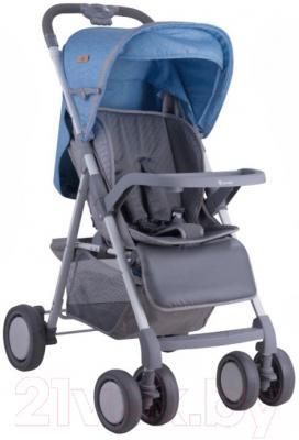 Детская прогулочная коляска Lorelli Aero (синий/серый)