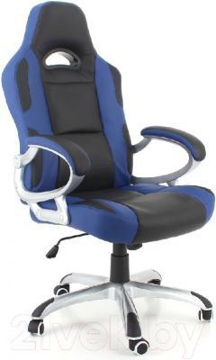 Кресло офисное Calviano Racer (черно-синий)