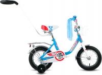 Детский велосипед с ручкой Forward Racing 12 Girl (белый/синий) -