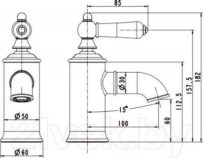 Смеситель Bravat Art F175109C - схема
