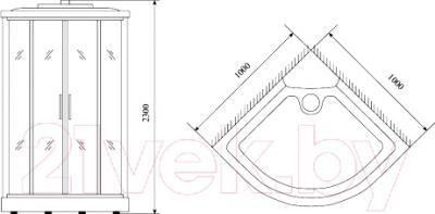 Душевая кабина Timo TL-1503 - схема