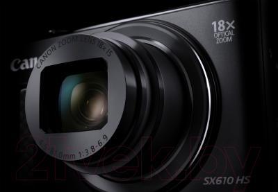 Компактный фотоаппарат Canon Powershot SX610 HS (черный)