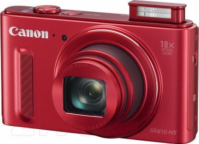Компактный фотоаппарат Canon Powershot SX610 HS (красный)
